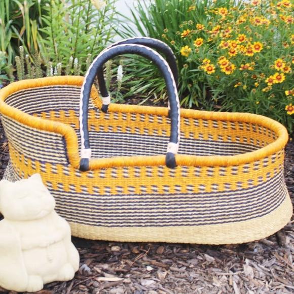 Stunning Handwoven Moses Basket